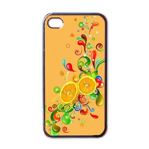 ORANGE ABSTRACT Apple iPhone 4 Case Cover #AN-28147443