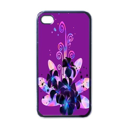 PURPLE FLOWERS Apple iPhone 4 Case Cover #AN-28147445