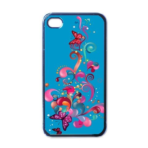 BLUE ABSTRACT Apple iPhone 4 Case Cover #AN-28147446