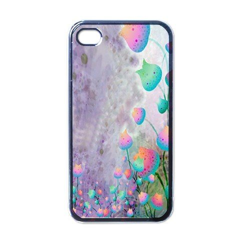 ABSTRACT FLOWERS Apple iPhone 4 Case Cover #AN-28147455