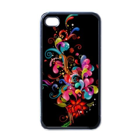 BLACK ABSTRACT Apple iPhone 4 Case Cover #AN-28147695