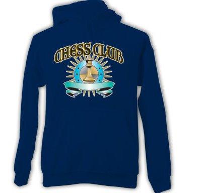 Chess Club Adult HOODIE SWEATSHIRT  sz  Small #CT