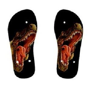 T-REX Dinosaur Childrens FLIP FLOPS Beach Sandals sz Kids 13 KS 30079219