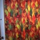 Colorful AUTUMN LEAVES Bathroom Shower Curtain #CT