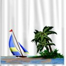Sailing SCENE Bathroom Shower Curtain CT