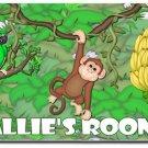 Jungle Monkey PERSONALIZED Mats door mat or rug for Bedroom #BSEC-CT