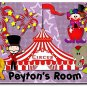 Circus PERSONALIZED Mats door mat or rug for Bedroom #BSEC-CT