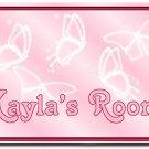 Pink Butterflies PERSONALIZED Mats door mat or rug for Bedroom #BSEC-CT