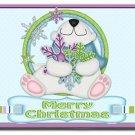 Holiday Polar Bear Design Indoor Room Doormat Mats Rug for Kitchen or Bedroom