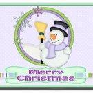Holiday Snowman Design Indoor Room Doormat Mats Rug for Kitchen or Bedroom