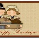 Thanksgiving Pilgrims Design Indoor Room Doormat Mats Rug for Kitchen or Bath