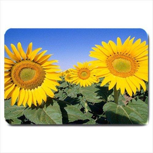 Bright Yellow Bathroom Colors: Bright Yellow Sunflowers Design Indoor Doormat Mats Rug