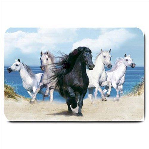 Running Wild Horses Design Indoor Doormat Mats Rug for the Bedroom or Bathroom