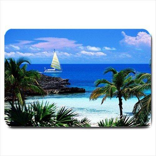 Tropical Beach Landscape Design Indoor Doormat Mats Rug for Bedroom or Bathroom