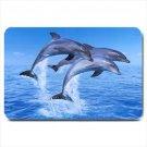 Swimming Dolphins Design Indoor Doormat Mats Rug for the Bedroom or Bathroom