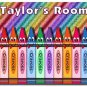 PERSONALIZED Crayon Design Indoor Room Doormat Mats Rug for Kid's Bedroom