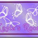 PERSONALIZED Purple Butterflies Design Indoor Room Doormat Mats Rug