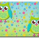 Cartoon Owls Design Indoor Room Doormat Mats Rug for Kitchen, Bath or Bedroom