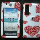 Red Hearts Design Snap On Cover Case for Samsung Behold T919