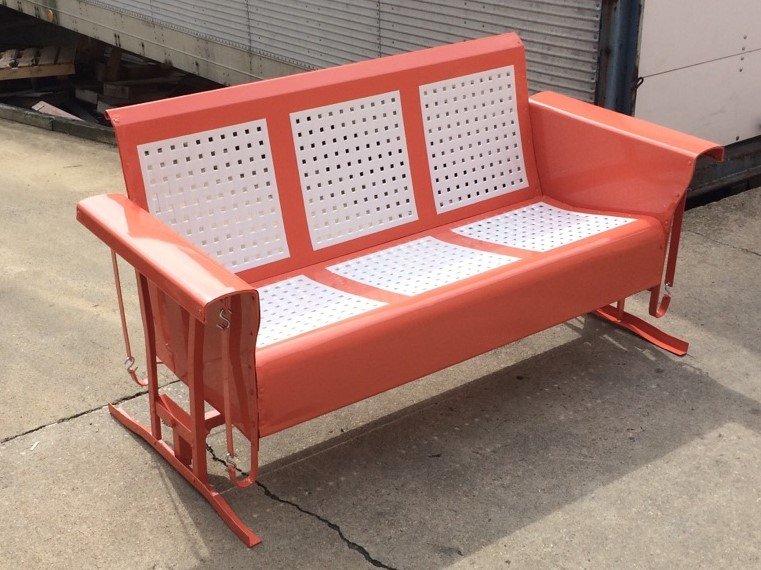 Vintage Metal Porch Glider Patio Swing