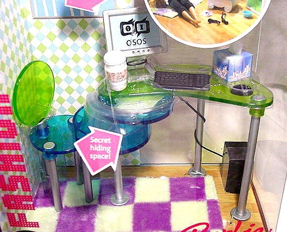 Barbie FASHION FEVER Furniture STUDY SPACE New in