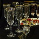 Champagne Flutes Set of Six Hand Decorated 24 K Gold