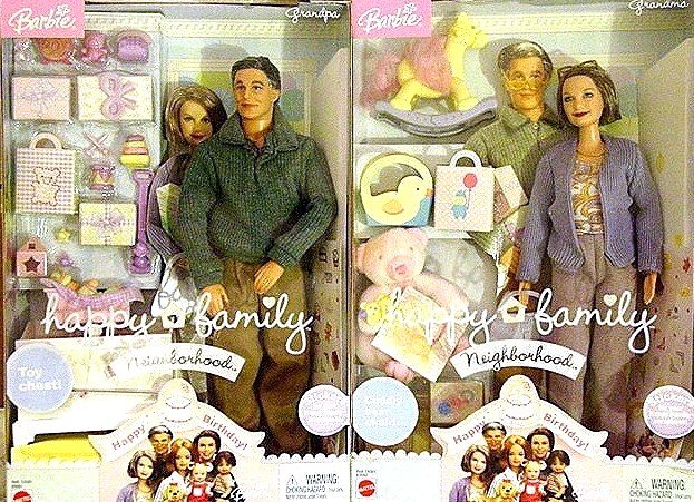 HAPPY FAMILY GRANDMA & GRANDPA DOLLS NIB'S