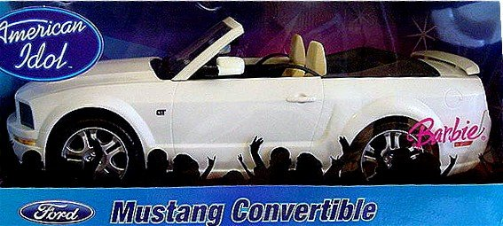 Barbie American Idol Mustang Car New In Box!!
