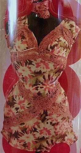 Fashion Fever Pink and Brown Floral Dress and Shoes New!