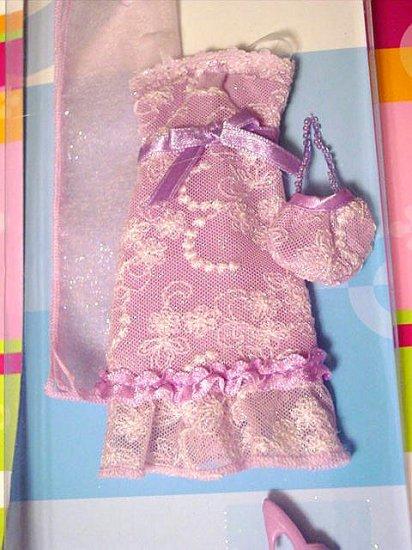 Lilac Sparkles Dress Purse Shoes & Wrap for Barbie