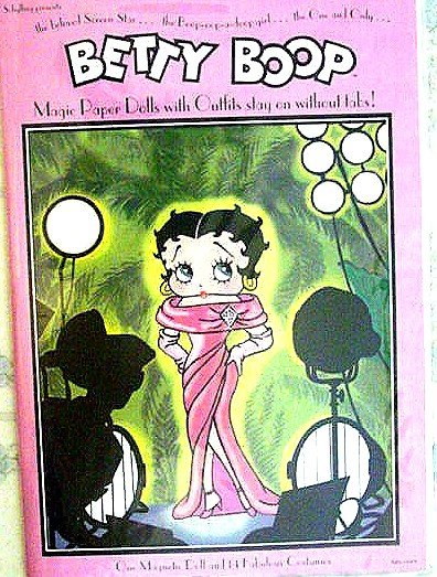 BETTY BOOP Magic Paper Doll with 14 Costumes New!