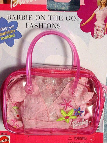 """Barbie Clothes """"Barbie On The Go Fashion"""" Pink New"""