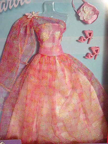 Barbie Doll Elegance & Class Pink Glittery Gown