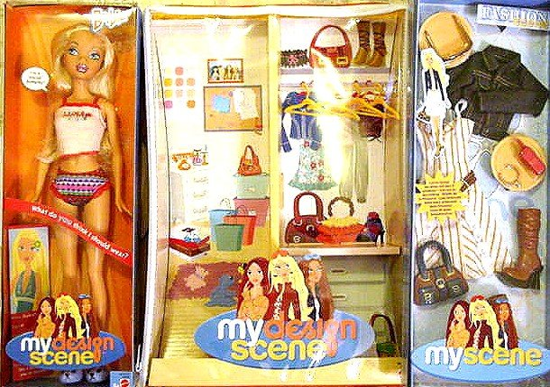 My Scene Barbie Doll,Case, and Set of Clothing New