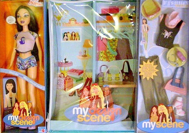 My Scene Nolee Doll,Case, and Set of Clothing New