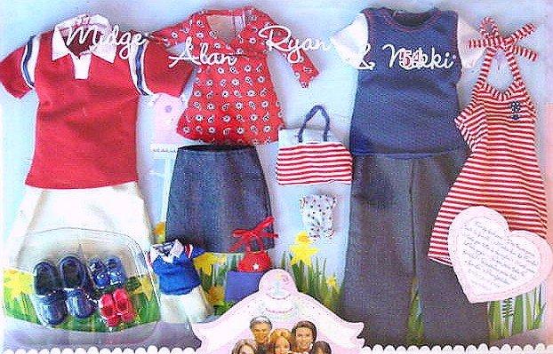 BARBIE Happy Family Midge Alan Ryan Nikki CLOTHES!