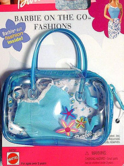 """Barbie Clothes Barbie """"On The Go Fashion"""" Blue New!!"""