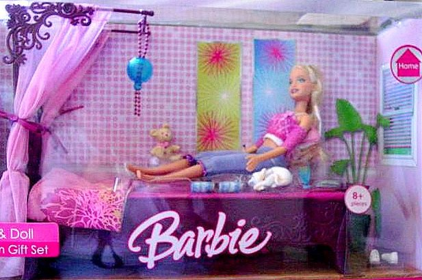Barbie Bedroom In A Box: Barbie Bedroom Gift Set Bed & Doll New In Box