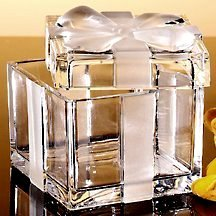Crystal Legends Crystal Bow Covered Box Godinger 2862