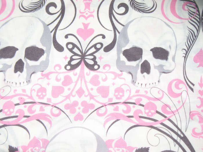 The Alexander Henry Fabrics Collection - Regent Skulls - Pink - 1 yard