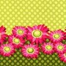 Michael Miller - Flora & Fauna - Double Border Daisy - Pattern #: DC4361_Lime - 1 yard