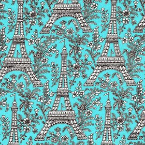 Michael Miller - Eiffel Tower - Pattern# C1248_SPA - 30 inches