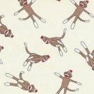 Moda's Erin Michael - 5 Funky Monkeys Sock - Cream - Pattern #15071 - 1 yard