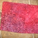"Rose/Wine Color Batiks style Print - 42"" x 15"" - Unknown Artist"