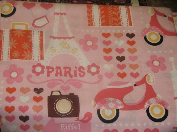 Timeless Treasures - Pink Eiffel - Pattern #: MOD-C4866 - 1 yard
