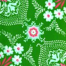 Free Spirit - Jennifer Paganelli - Pretty Please Ann Flower Mural Green - 1 yard