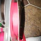 "5/8"" - Solid - Grosgrain Ribbon - Shocking Pink - 5 yards"
