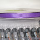 "3/8"" GROSGRAIN RIBBON - PURPLE -  5 yards"