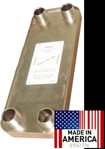 """20 Plate 5x13"""" Heat Exchanger **MADE IN USA** - outdoor wood boiler DHW FREE SHIPPING"""