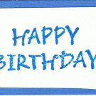 "Card insert - ""Happy Birthday"""